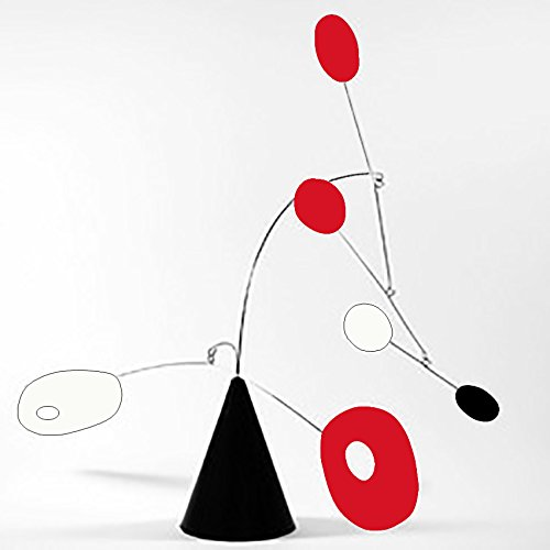 Modernism ''Strobile'' by Atomic Mobiles in Black Red & White - Tabletop Mobile Inspired by Calder and Midcentury Modern - 2 Sizes To Choose From