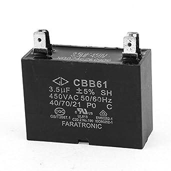 CBB61 2uF 5% Tolerancia 4 terminales 450V soldadura Motor ...