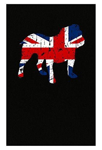 BADASS REPUBLIC Gifts English Bulldog Lovers Union Jack Flag Style - Poster