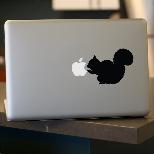 Squirrel decal, SET OF 2, Sticker for Car Window, Laptop, Black