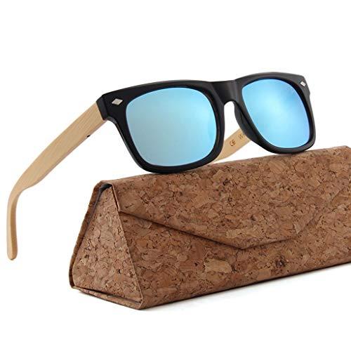 UV de respetuosas Medio y plástico Unisex el Protección Color Brown Brown bambú con Gafas sol bambú Gafas Ambiente qUwOPW