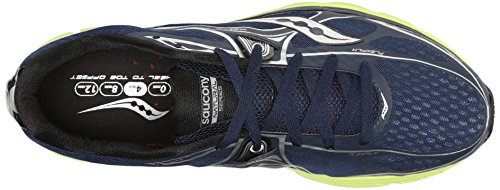 Saucony Hommes Mirage 5 Running chaussures,marine/Citron,8.5 M US