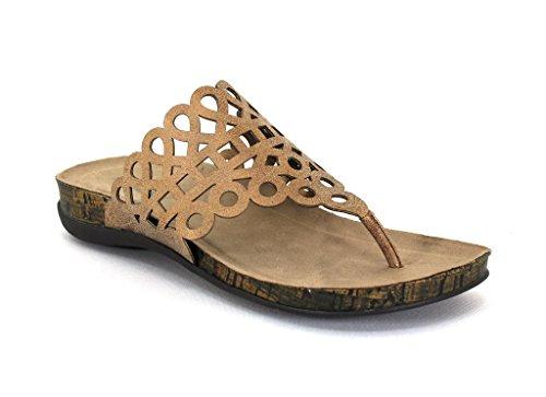 Axxiom Womens Miller Slip-on Sandaler Ny Bronse