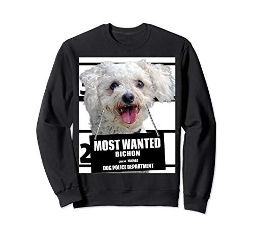 Most Wanted Bichon Sweatshirt - Cute Funny Dog Sweat shirt - Bichon Sweatshirt