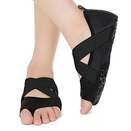per Antiscivolo Balletto JOINFREE Donna Yoga Barre Bellarina Punta Nero con Scarpe Mezza Pilates ZBYnqn0AF