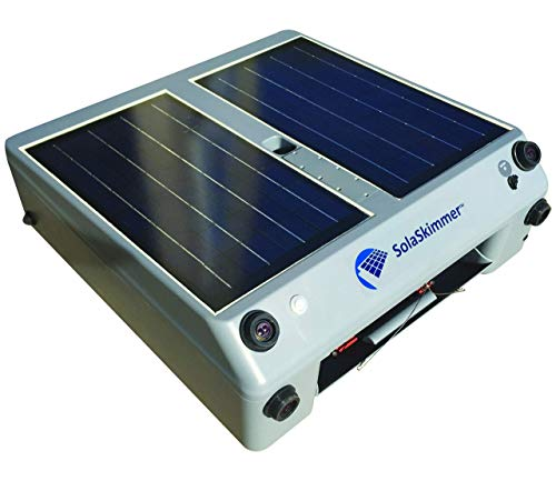 SolaSkimmer - Automatic Pool Cleaner That's Solar Powered - Pool Skimmer That Removes Leaves & Debris Before it Sinks - Cordless, Robotic Pool Cleaner for inground Pools & Above Ground Pools (Renewed)
