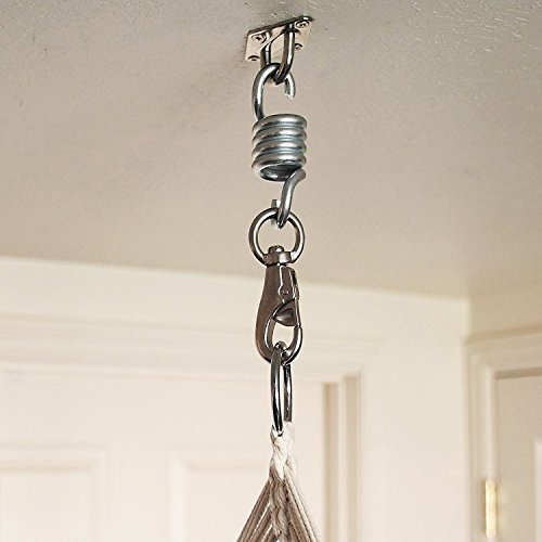 This Hanging Chair Hardware Hammock ... - Hanging Chair Hardware Hammock Kit Swivel Hook Patio Swing Spring