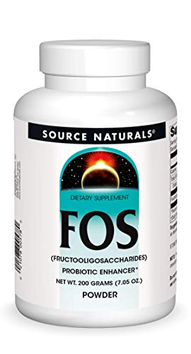 Source Naturals FOS POWDER Dietary Supplement, Fructooligosaccharides Probiotic Enhancer - 200 Grams