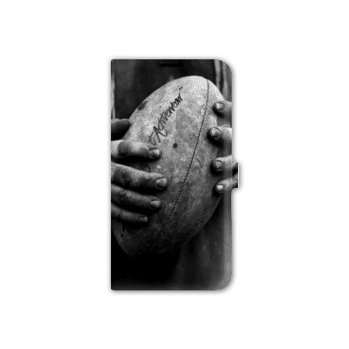 Leather Flip Case Asus Zenfone 2 ZE500KL / ZE 500 KL Rugby - Ballon Vintage ()