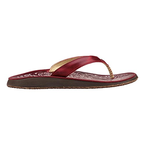 Olukai Woman Natural Leather Red ohia Sandal Paniolo Red Ohia 3j45ALR
