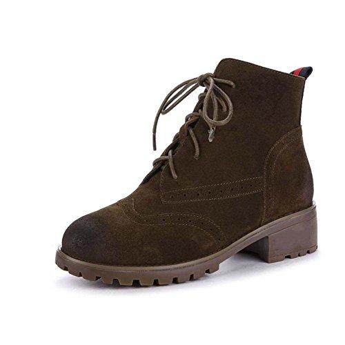 Stivaletti Autumn And Winter Retro boots Scarpe di grandi dimensioni , 43