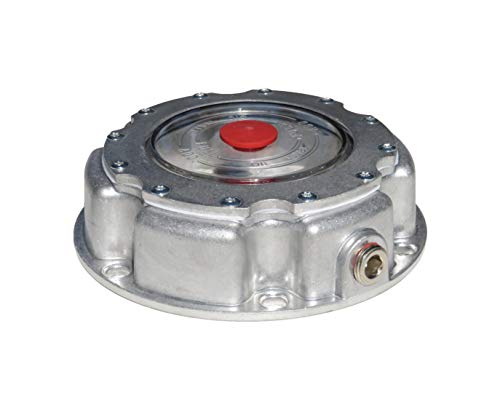 Road King Truck Parts Standard 6 Hole Aluminum Hub Cap with Side Pipe Plug and Gasket