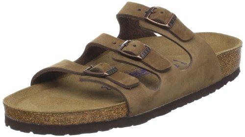 Birkenstock Women's Florida Soft Footbed Birko-Flor  Cocoa Nubuck Sandals - 42 N EU/ 11-11.5 N US