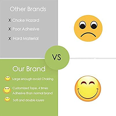 Smile Face Corner Guards Baby Proofing corner protectors Zoojee Clear Corner Bumpers Baby Safety Corner Protector, Advanced Clear Protectors Child Safety Furniture Bumper Custom Made Stickers 16pack