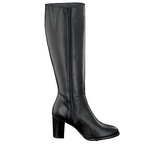 Shoot Shoes SH-216006C Damen Leder Langschaft Stiefel (37, black)