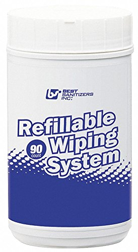 Disinfecting Cleaning Wipes, 90 ct. Canister, Fragrance: Unscented, Size: 7-1/2'' x 10''