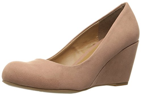 Nima Chinese Pump Rose Women's Suede by CL Laundry Super Wedge Dusty q4IHHU