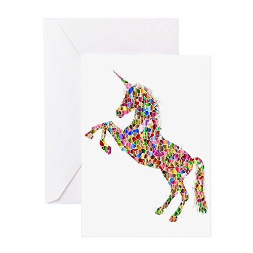 - CafePress - Prismatic Rainbow Unicorn - Greeting Card, Note Card, Birthday Card, Blank Inside Matte