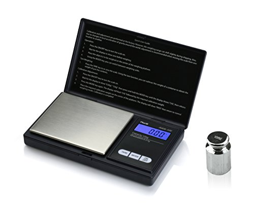 American Weigh Scales AWS-100-CAL Digital Kitchen Pocket Scale, Small, Black