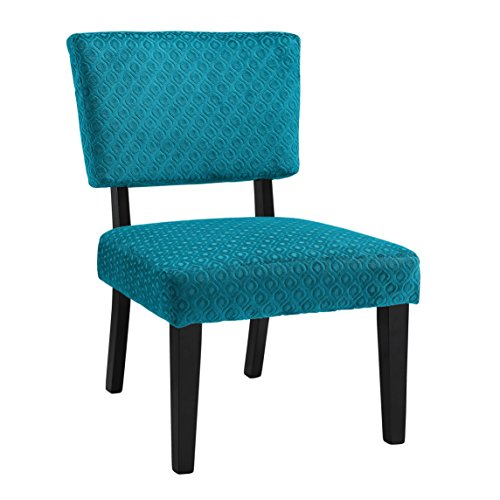 - Linon Taylor Accent Chair in Teal Blue