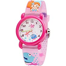 Kids Watch,Water resistant Digital watch Quartz Analog Sports Watch with Time for Girls Boys Pink