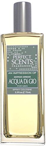 Perfect Scents Men's Cologne, Impression of Acqua Di Gio, 2.5 Fluid Ounce