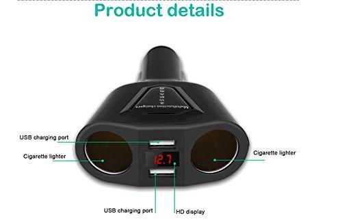 Amazon.com: marketworldcup LCD de encendedor de coche ...