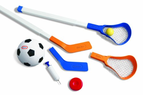 Little Tikes Easy Score Soccer, Hockey, Lacrosse Set with -