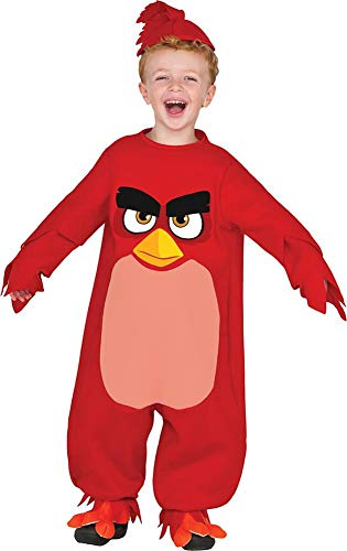 Rubie's Baby Angry Birds Movie Red Romper Costume, Toddler 2T