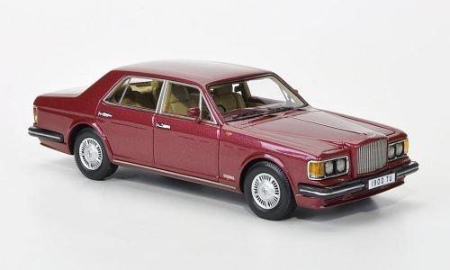 Bentley turbo R, rosso-met., RHD, 1985, modello di automobile, modello prefabbricato, Neo 1 43 Modello esclusivamente da collezione