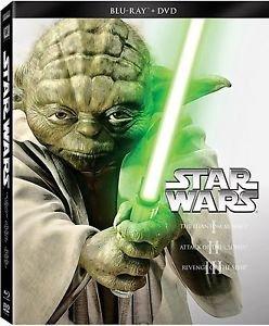 Star Wars Prequel Trilogy DVD Blu Ray Box Set Widescreen Edition Episodes 1 2 3 (Star Wars Widescreen Trilogy)