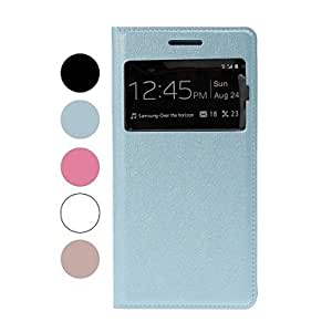 YXF Solid Color Silk Texture Full Body Leather Case with Stand for Samsung Galaxy Grand 2 G7106(include back cover) , Blue