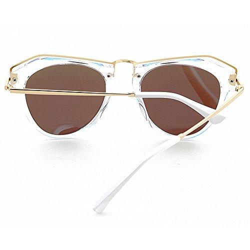 conduite irrégulières en d'été de colorée la plein UV brillants soleil femmes pour nouveauté de designer polarisées nuances lunettes protection de vacances plage soleil Bleu la Lunettes air lentille des nxTqBwz4ZC