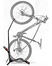 Extra Sprint Vertical Bike Rack, Floor Bicycle Stand, Bike Stand for Road Bikes, Mountain Bikes, Kids Bikes. Perfect for Garage or Small Spaces