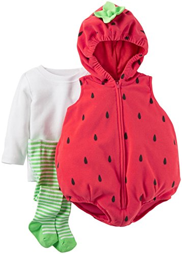 [Carter's Baby Girls Costumes 119g128, Red, 12 Months] (Strawberry Costume)