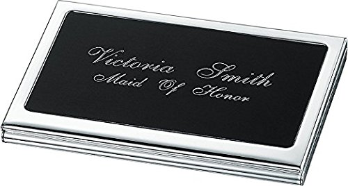 Silver Personalized Plated Personalized Business Evette Card Evette Case gpqpwrt