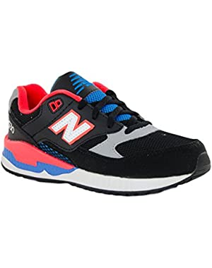 New New Balance KL530BA Black/Flame Leather Mesh 5 Youths Shoes