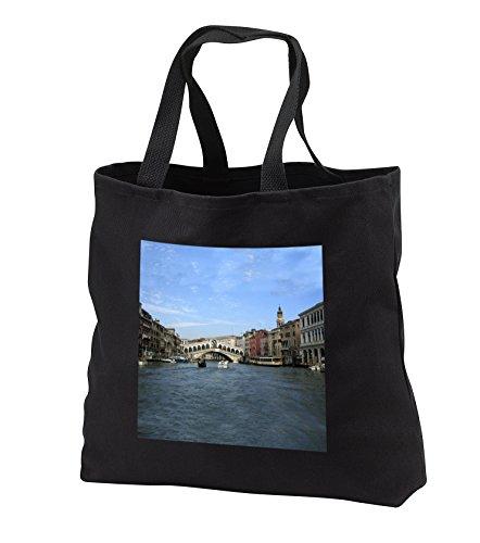 Rialto Bridge Venezia Italy - Tote Bags - Black Tote Bag JUMBO 20w x 15h x 5d (tb_1310_3) (Venezia Canvas Duffle Bag)