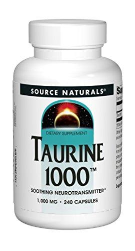 Source Naturals Taurine 500mg - 240 Capsules