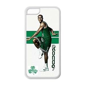 Boston Celtics Rajon Rondo Image Theme Back TPU Case for iPhone 5C-by Allthingsbasketball