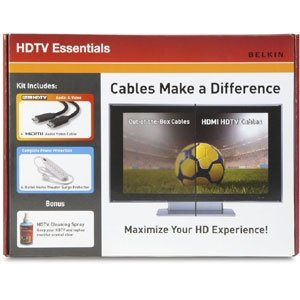 Belkin HDTV Essentials Kit - Includes 6' HDMI Cable, Surge Protector, and Cleaning Spray