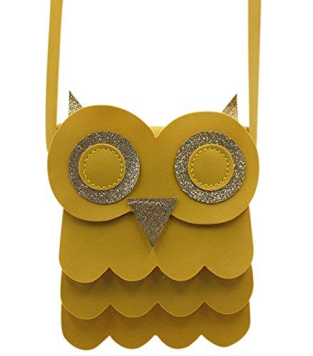 Bags us Cute Owl Coin Purse Handbag Crossbody Satchel Glitter Shoulder Bag for Kids Girls