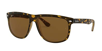 26bc28fbc7e Image Unavailable. Image not available for. Color  RAY BAN HIGHSTREET 4147  LIGHT HAVANA FRAME BROWN POLARIZED RB 4147 710 57 60MM