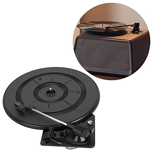 Drfeify Record Player, 28cm Automatic Arm Return Record Player Turntable Gramophone Electric Instrument Accessories Parts