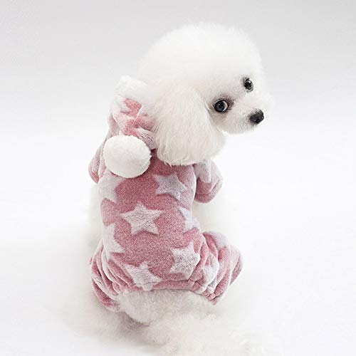 Fleece Pet DogWarm Dog Clothes Winter Pets Dogs for Dogs Puppy Outfit Pet OverallsClothes,Pink,XL for $<!--$25.99-->