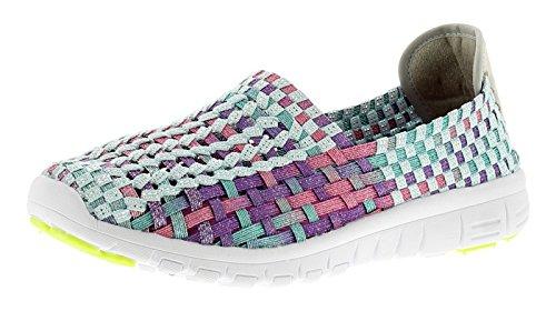 Heavenly Feet Andrea Womens Ladies Flats Shoes Memory Foam Insock Mint - Mint Multi - UK Sizes 3-8 4E18TgJytU