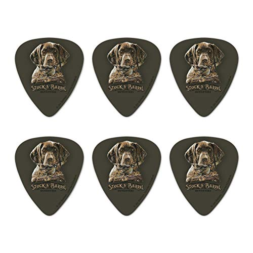 Stock and Barrel Outfitters Pointer Dog Quail Hunting Novelty Guitar Picks Medium Gauge - Set of 6