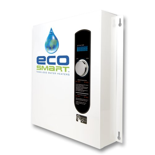 EcoSmart ECO 27 Electric Tankless Water Heater, 27 KW at 240 Volts, 112.5 Amps with Patented Self Modulating Technology
