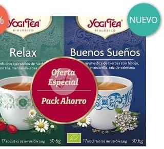 PACK INFUSIONES RELAX + BUENOS SUEÑOS BIO YOGI TEA: Amazon.es ...