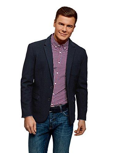 oodji Ultra Men's Jersey Blazer with Patch Pocket